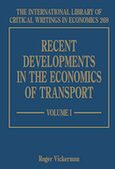 Cover Recent Developments in the Economics of Transport