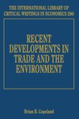 Cover Recent Developments in Trade and the Environment