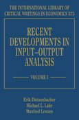 Cover Recent Developments in Input–Output Analysis