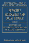 Cover Effective Federalism and Local Finance