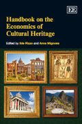 Cover Handbook on the Economics of Cultural Heritage