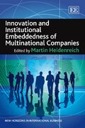Cover Innovation and Institutional Embeddedness of Multinational Companies