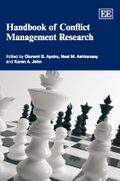 Cover Handbook of Conflict Management Research