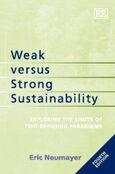 Cover Weak versus Strong Sustainability
