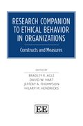 Cover Research Companion to Ethical Behavior in Organizations