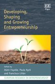 Cover Developing, Shaping and Growing Entrepreneurship