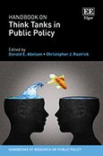 Cover Handbook on Think Tanks in Public Policy