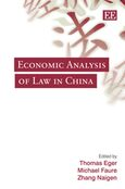 Cover Economic Analysis of Law in China