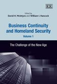 Cover Business Continuity and Homeland Security, Volume 1