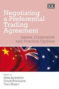 Cover Negotiating a Preferential Trading Agreement