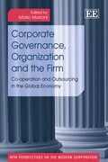 Cover Corporate Governance, Organization and the Firm