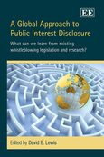 Cover A Global Approach to Public Interest Disclosure