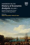 Cover Handbook on the History of Economic Analysis Volume I