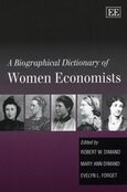 Cover A Biographical Dictionary of Women Economists