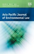Cover Asia Pacific Journal of Environmental Law
