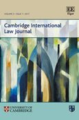 Cover Cambridge International Law Journal