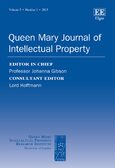Cover Queen Mary Journal of Intellectual Property