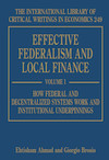 Effective Federalism and Local Finance