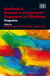 Handbook of Research on Entrepreneurs' Engagement in Philanthropy