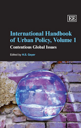 International Handbook of Urban Policy, Volume 1