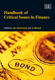 Handbook of Critical Issues in Finance